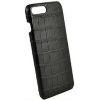 Чехол TORIA для iPhone 7/8 PLUS Exotic Crocodile Hard Black (натуральная кожа крокодила)
