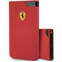Аккумулятор внешний универсальный Ferrari 5000 mAh, цифровой дисплей, 2 USB Rubber Red, красный