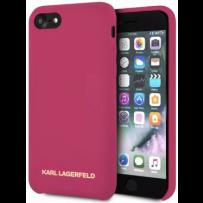 Чехол Karl Lagerfeld для iPhone 7/8/ SE (2020) Liquid silicone Gold logo Hard Pink