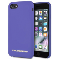 Чехол Karl Lagerfeld для iPhone 7/8/ SE (2020) Liquid silicone Gold logo Hard Violet