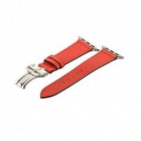 Ремешок кожаный COTEetCI W16 Fashion LEATHER застёжка «бабочка» (WH5223-RD-42) для Apple Watch 44мм/ 42мм Красный