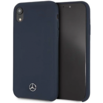 Чехол Mercedes-benz для iPhone XR Silicone line Hard Blue