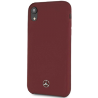 Чехол Mercedes-benz для iPhone XR Silicone line Hard Red