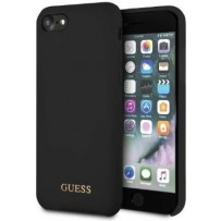 Чехол GUESS для iPhone 7/8 SE 2 Silicone collection Gold logo Hard Black