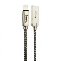 USB дата-кабель Hoco U10 Zinc Alloy Reflective Knitted Lightning (1.2 м) Серебристый