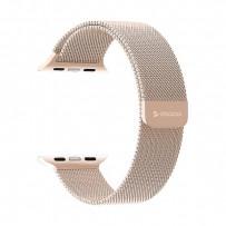 Ремешок из нержавеющей стали Deppa Band Mesh D-47150 для Apple Watch 44мм/ 42мм Розовое-золото