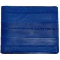 Мужской кошелек из натуральной кожи угря, синий