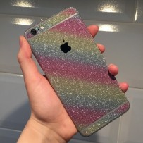 """Защитная, противоскользящая пленка """"Magic sticker"""" для iPhone 6/6s, радужный"""