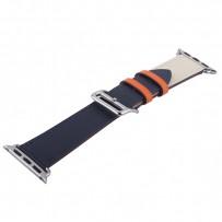 Ремешок кожаный COTEetCI W36 Fashoin Leather (WH5260-40-ICO) для Apple Watch 40мм/ 38мм (short) Синий-Бежевый