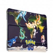 Чехол-книжка кожаный Birscon для iPad Air 2 Fashion series с рисунком UV-print (Pokemon GO) тип 06