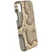 Чехол TORIA для iPhone XS Max Exotic Limited edition Python Hard Sky, натуральная кожа питона