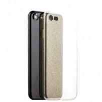 Чехол-накладка силикон Deppa Chic Case с блестками D-85297 для iPhone 7/8 (4.7) 0.8мм Золотистый борт