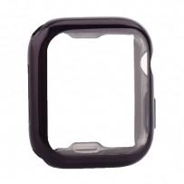 Чехол силиконовый TPU&защита экрана 360° COTEetCI для Apple Watch Series 4/5 (CS7060-BK) 44мм Черный