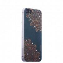Накладка силиконовая Beckberg Golden Faith series для iPhone SE/ 5s/ 5 со стразами Swarovski вид 15