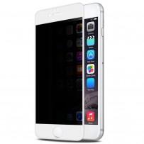 "Стекло защитное ""Антишпион"" 3D для iPhone 6/6s, белый"
