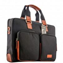 """Кейс для ноутбука до 15"""" i-Carer 420x300x132mm Business Handbag Briefcase Shoulder (RDN-02-B1) оранжево-черный"""