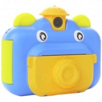 Детский фотоаппарат мгновенной печати фотографий Leilam Синий
