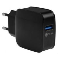 Сетевой адаптер EnergEA СЗУ Ampcharge, USB QC3.0 18W Black