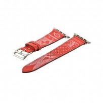 Ремешок кожаный COTEetCI W13 Fashion LEATHER (WH5219-RD-42) для Apple Watch 44мм/ 42мм Красно-белый