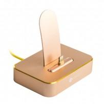 Док-станция COTEetCI Dock1 Lightning Stand Aluminum (MFI) CS5010-CEG для iPhone XS/ XS MAX/ 8 Plus/ 8/ 7 Plus/ 7/ 6/ SE Золотистая