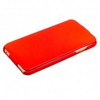 Чехол Fashion Case для iPhone 6s Plus/ 6 Plus (5.5) кожаный книжка боковая красный