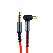 Кабель Hoco UPA02 AUX Spring Audio Cable 3.5mm (1.0 м) Red Красный