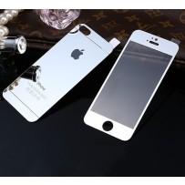 "Двусторонние защитное стекло ""Mirror"" для iPhone 5/5S, серебро."