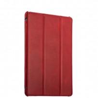 """Чехол кожаный i-Carer для New iPad 2017г. (9,7"""") Vintage Series (RID707red) Красный"""