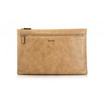 Защитный чехол на молнии i-Carer 365x245x12mm Real leather Latop Zipper Sleeve for Big Size (IB013-80755-1) Коричневый