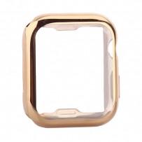 Чехол силиконовый TPU&защита экрана 360° COTEetCI для Apple Watch Series 4/5 (CS7060-GD) 44мм Золотистый
