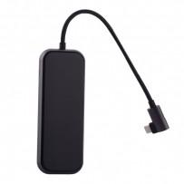 Переходник Baseus HUB Type-C Mirror Series (CAHUB-DZOG) Type-C to USB3.0x3/ HDMI/ Type-C/ RJ45 для Macbook Графитовый