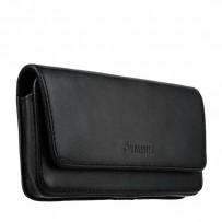 Чехол-кобура (откр. маг.) кожаный Valenta (C-401 5XL) Belt Arezzo Cases (160x85x12mm) с двойным креплением на ремень черный