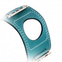 Ремешок кожаный COTEetCI W10 FASHION BAND (WH5212-BL-42) для Apple Watch 44мм/ 42мм Marine Blue - Голубой