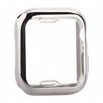 Чехол силиконовый TPU&защита экрана 360° COTEetCI для Apple Watch Series 4/5 (CS7060-TS) 44мм Серебристый
