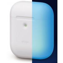 Чехол Elago для AirPods 2 wireless Silicone case Nightglow blue