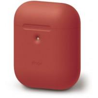 Чехол Elago для AirPods 2 wireless Silicone case Red