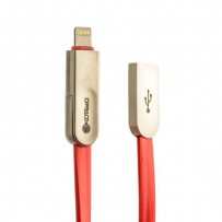 USB дата-кабель COTEetCI M13 FLAT series (2в1) Lightning+microUsb CS2120-RD (1.0 м) красный