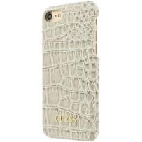 Чехол GUESS для iPhone 7/8/ SE (2020) Croco Hard PU Beige