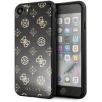 Чехол GUESS для iPhone 7/8/ SE (2020) Double layer 4G Peony Hard Glitter Black