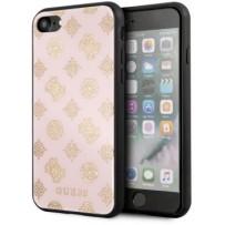 Чехол GUESS для iPhone 7/8/ SE (2020) Double layer 4G Peony Hard Glitter Light pink