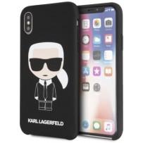 Чехол Karl Lagerfeld для iPhone X/XS Liquid silicone Iconic Karl Hard Black
