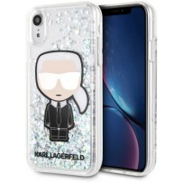Чехол Lagerfeld для iPhone XR Liquid glitter Iconic Karl Hard Iridescent