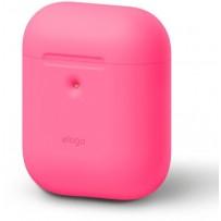 Чехол Elago для AirPods 2 wireless Silicone case Neon Pink
