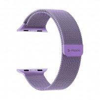 Ремешок из нержавеющей стали Deppa Band Mesh D-47148 для Apple Watch 44мм/ 42мм Лавандовый