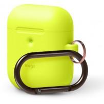 Чехол Elago для AirPods 2 wireless Silicone Hang case Neon Yellow