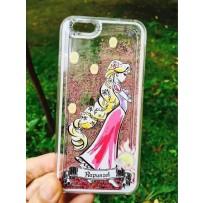 """Чехол """"Rapunzel"""" для iPhone 6/6S (плавающие звезды), розовый."""