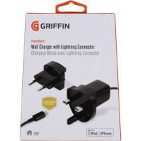Сетевое зарядное устройство Griffin c разъемом 8-pin Lightning 0.9 м GA36560 (USB: 5V 1A) Черный ORIGINAL