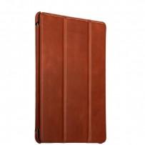 """Чехол кожаный i-Carer для New iPad 2017г. (9,7"""") Vintage Series (RID707br) Коричневый"""