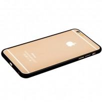 Бампер Fashion Case для iPhone 6s Plus/ 6 Plus (5.5) металлический (замок в верху) черный