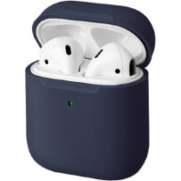Чехол Uniq для Airpods LINO (2019) Liquid silicone Blue